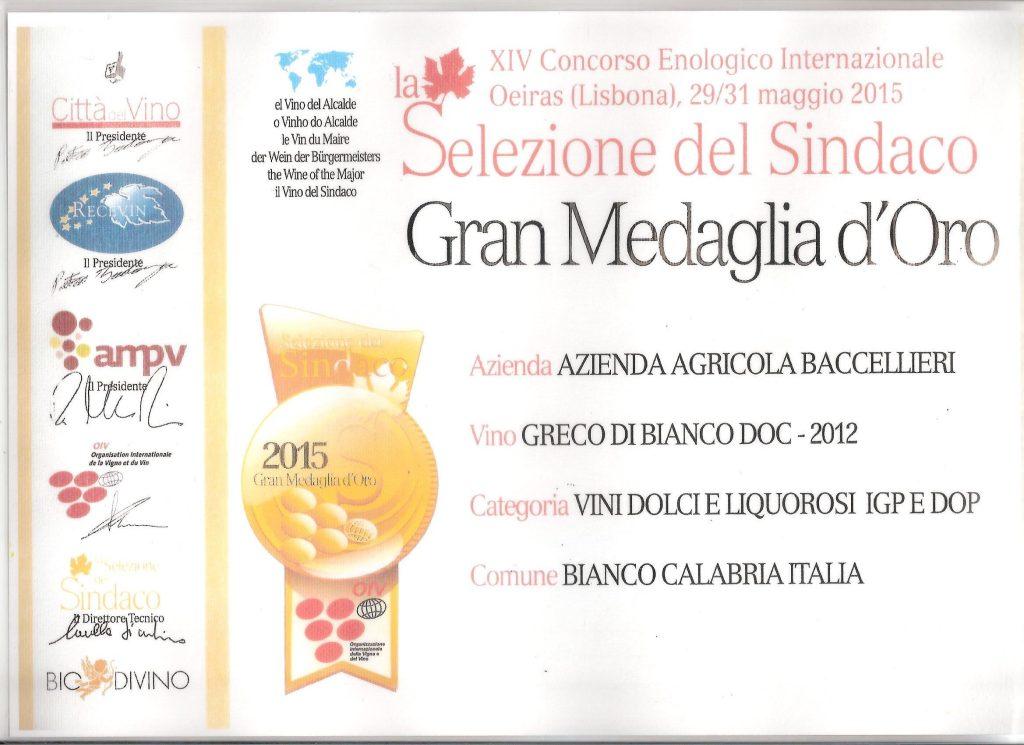 Gran Medaglia Oro - Roma
